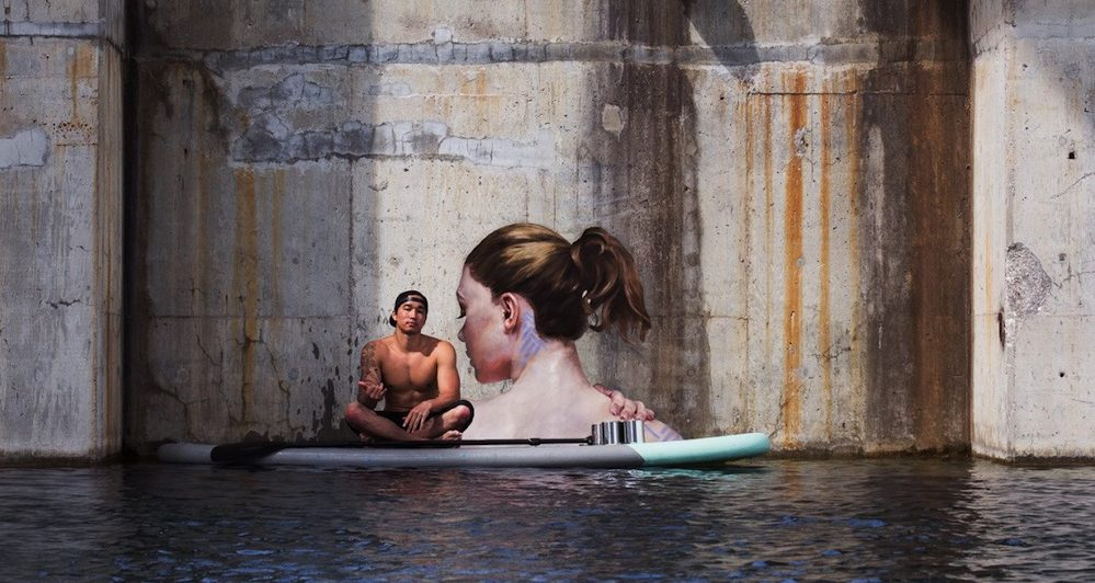 L'immagine del murale sul profilo Instagram di the_hula