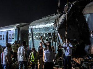 Immagini del deragliamento (@Getty Images).