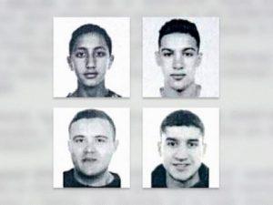 Le foto dei 4 sospettati ricercati dalla polizia