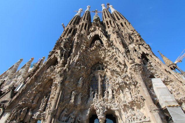Facciata della Sagrada Familia.