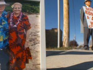 Il gesto d'amore del 74enne: ogni giorno in strada per trovare donatore di rene per la moglie