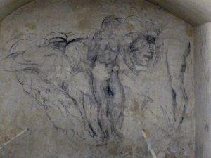 I disegni della Stanza Segreta delle Cappelle Medicee, Firenze (foto scattata nel 2013).