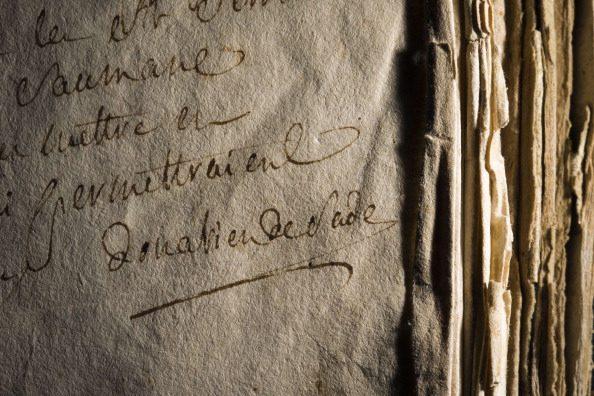 Una delle rarissime firme del Marchese De Sade.