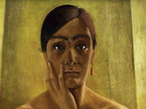 """Autoritratto di Anita Rée, una delle """"Outsider"""" raccontate da Accatino nel suo nuovo libro."""