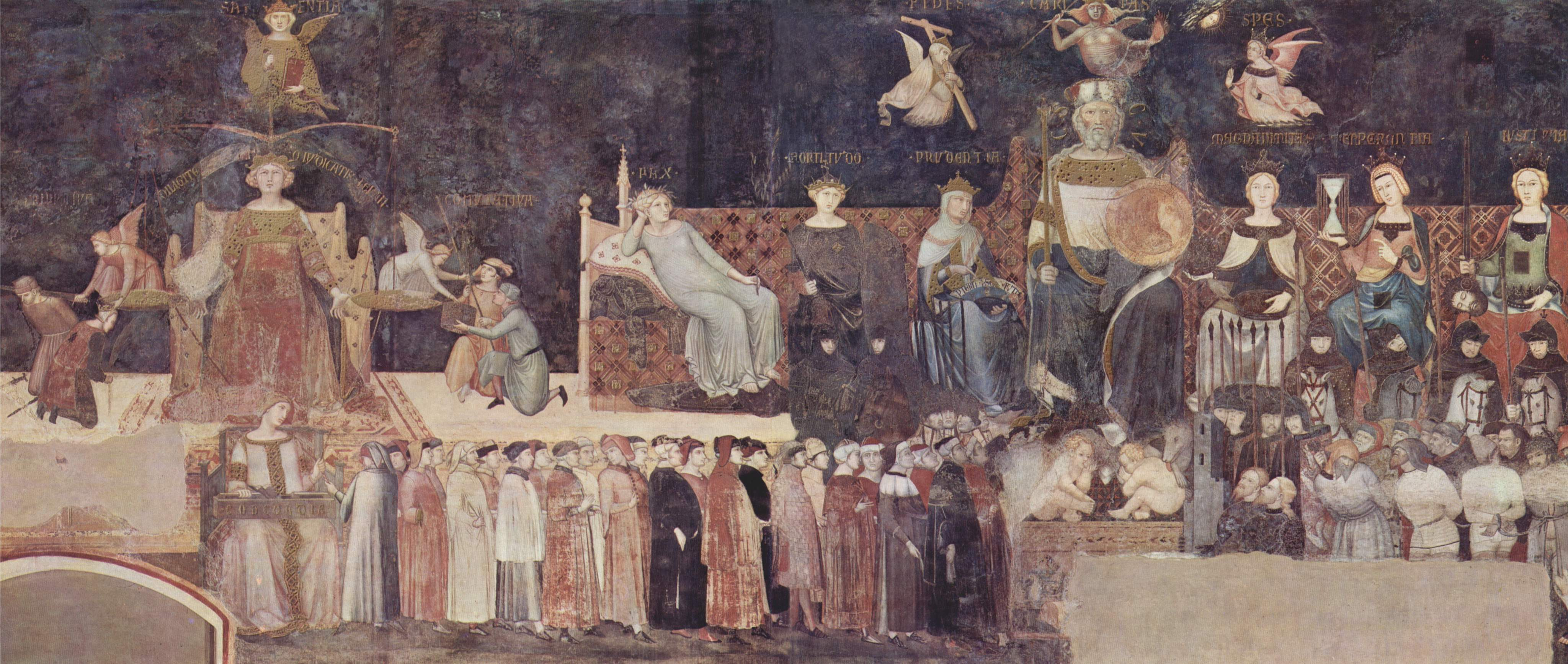 Ambrogio Lorenzetti, Allegoria del Buon Governo, Palazzo Pubblico, Siena.