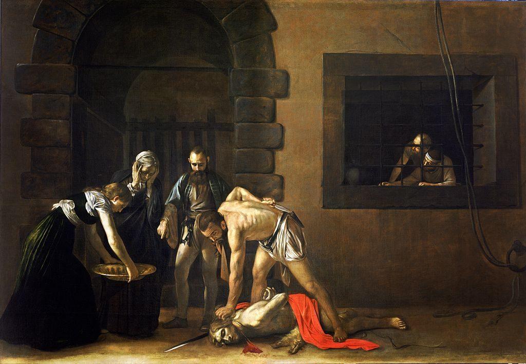 Caravaggio, La Decollazione di San Giovanni Battista, conservato presso la Concattedrale di La Valletta, Malta.
