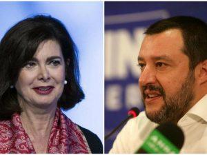 """Boldrini contro Salvini: """"Al governo leader maschilisti"""". Il"""