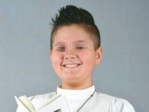 """Addio a Cristopher, ucciso da un tumore a 11 anni: """"Amava Dy"""