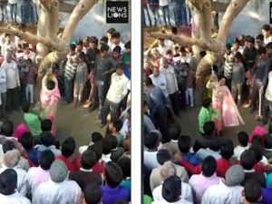 Donna accusata di adulterio viene legata a un albero e frustata in pubblico dal marito