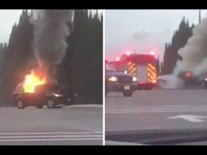 California, auto con bombole esplode contro una base aerea:
