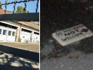 Bomba carta e simboli nazisti contro il centro profughi in A