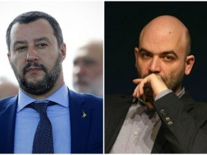 """Roberto Saviano risponde a Matteo Salvini: """"Vivere sotto sco"""