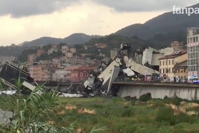 Genova crolla il ponte morandi sull 39 autostrada a10 almeno trentuno i morti sotto le macerie - Ikea genova uscita autostrada ...