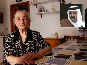 Emiro del Qatar torna a Brindisi per andare da nonna Teresa: