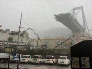 Crollo ponte Genova, il pilone rimasto in piedi rischia di c