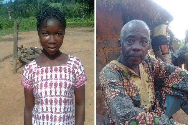 Una sposa bambina Becheve e l'anziano marito