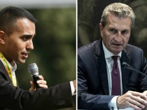 """Manovra, Di Maio risponde a Oettinger: """"Si morda la lingua 3 volte prima di parlare"""""""