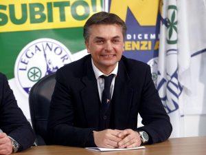Viceministro Edoardo Rixi sta con il sindaco Camiciottoli. P
