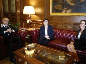 L'incontro tra Elisabetta Trenta, Ilaria Cucchi e Giovanni Nistri