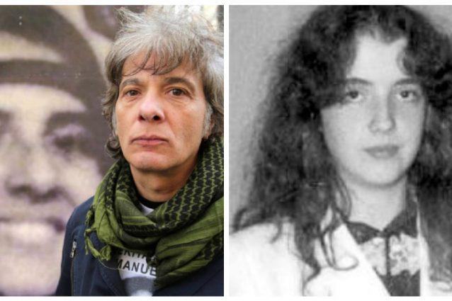 A dx Pietro Orlandi (davanti a una foto di Emanuela), a sn Mirella Gregori