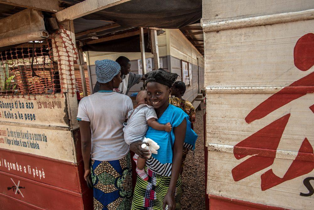 Centro medico di Msf nella Repubblica Centrafricana (Medici senza Frontiere)
