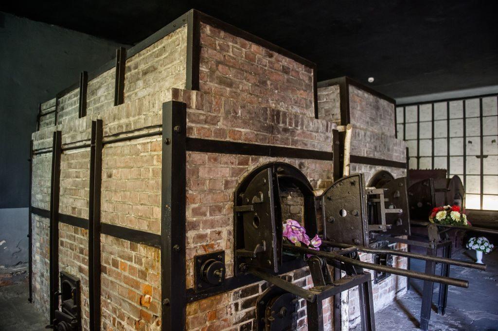 Il forno crematorio all'interno del campo di sterminio di Stutthof, in Polonia (Gettyimages)
