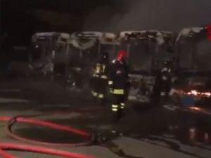 """Torino, brucia 7 autobus di linea: """"Non mi lasciavano salire"""