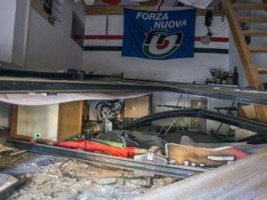 Bologna, bomba nella sede di Forza Nuova