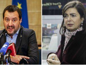 """Laura Boldrini: """"Da Salvini operazione criminale contro di m"""
