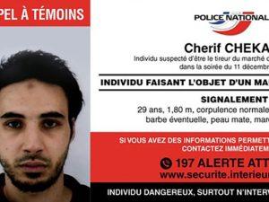 """Il killer di Strasburgo ancora in fuga: """"Allerta anche in It"""