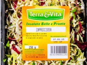 Ritirata dai supermercati l'insalata capricciosa Terra&V