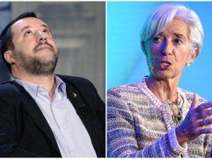 """Tagliate le stime di crescita dell'Italia, Matteo Salvini: """""""