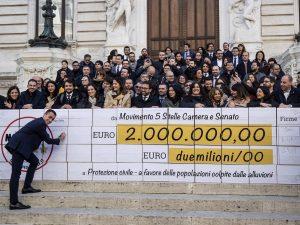 """M5s, col taglio degli stipendi """"restituiti"""" 105 milioni: """"Ec"""