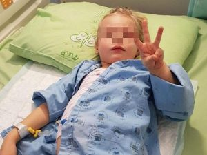 Sofia a 3 anni lotta tra la vita e la morte a causa della le