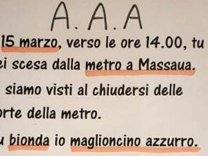 Torino, si guardano in metro e poi lei va via: la cerca sui