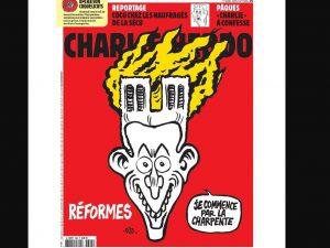 Incendio di Notre Dame, la provocazione di Charlie Hebdo