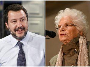 """25 aprile, Liliana Segre contro Matteo Salvini: """"Non puoi ig"""
