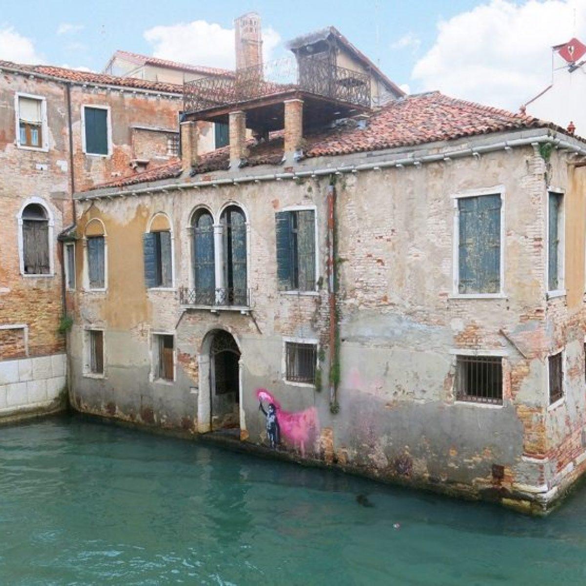 Costo Di Un Murales.Banksy A Venezia Il Nuovo Murale Fa Schizzare Il Valore Di