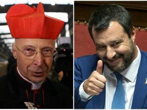 """Il cardinale Angelo Bagnasco risponde a Matteo Salvini: """"Inv"""