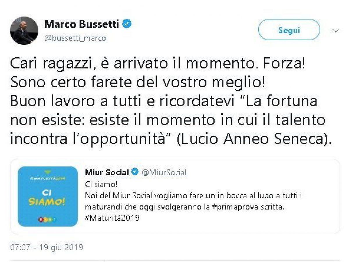 Calendario Filosofico 2020 Frasi.Prima Prova Maturita 2019 Ministro Bussetti Lega Cita