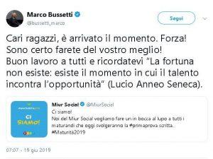 Prima prova maturità 2019, ministro Bussetti (Lega) cita Sen