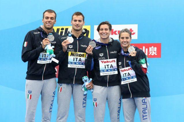 Mondiali di nuoto 2019, medaglia d'argento per l'Italia nell