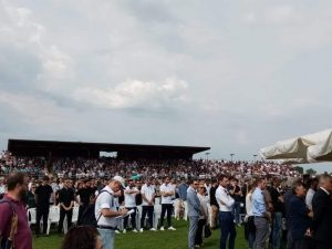 Incidente Jesolo, in 5mila allo stadio di Musile per i funer