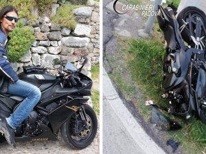 Incidente a Rubano, moto tampona auto: Franco muore sul colp