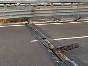 Agrigento, salta giunto di un ponte sulla statale: diverse a