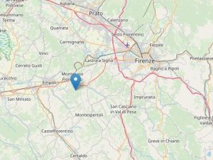 Terremoto a Montelupo Fiorentino, scossa di magnitudo 2.9 in