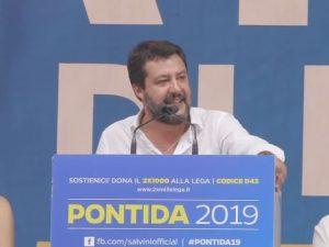 "Salvini a Pontida: ""Questa è l'Italia che vincerà, ci ripren"