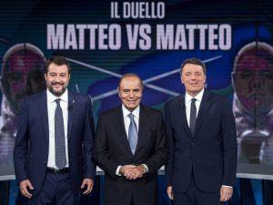"""Confronto Renzi Salvini, l'affondo del leader della Lega: """"S"""