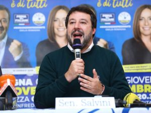 "Emilia Romagna, Salvini lancia la campagna elettorale: ""Prim"