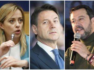 """Salvini e Meloni attaccano Conte: """"complotti e tradimento"""" s"""